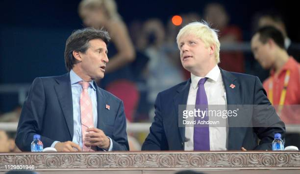 Seb Coe and Boris Johnson at the closing ceremony of the Summer Olympic Games in Beijing China 24th August 2008.