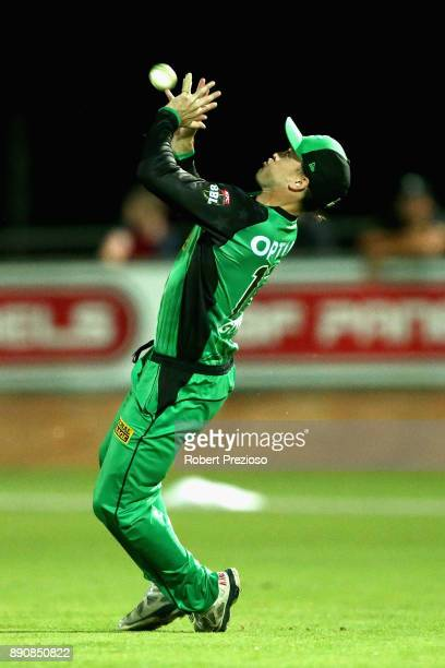 Seb Gotch of the Melbourne Stars takes a catch to dismiss Arjun Nair of the Sydney Thunder during the Big Bash League exhibition match between the...
