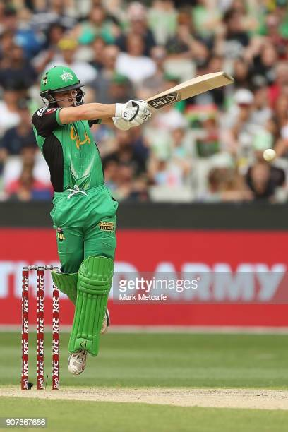 Seb Gotch of the Stars bats during the Big Bash League match between the Melbourne Stars and the Sydney Thunder at Melbourne Cricket Ground on...