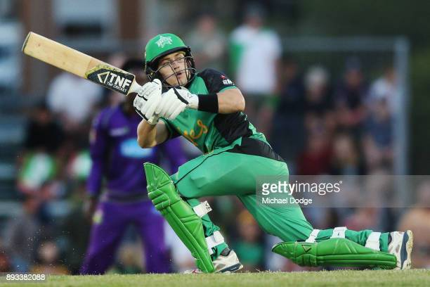 Seb Gotch of the Stars bats during the Twenty20 BBL practice match between the Melbourne Stars and the Hobart Hurricanes at Traralgon Recreation...