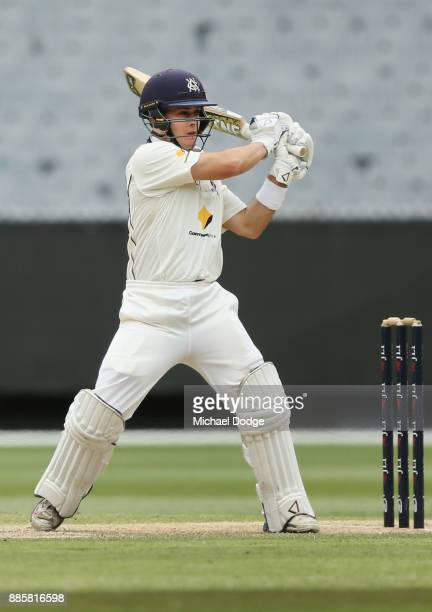 Seb Gotch of Victoria bats during day three of the Sheffield Shield match between Victoria and Western Australia at Melbourne Cricket Ground on...