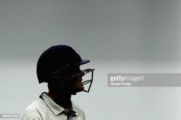 Seb Gotch of Victoria looks dejected after fallling two runs short of a century during day three of the Sheffield Shield match between Victoria and...