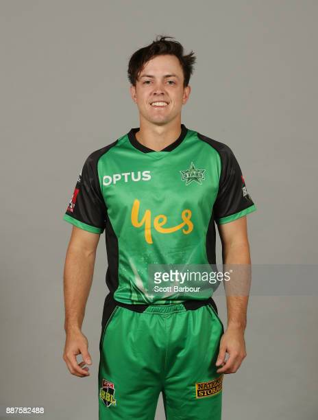 Seb Gotch poses during a Melbourne Stars BBL headshots session on December 7 2017 in Melbourne Australia