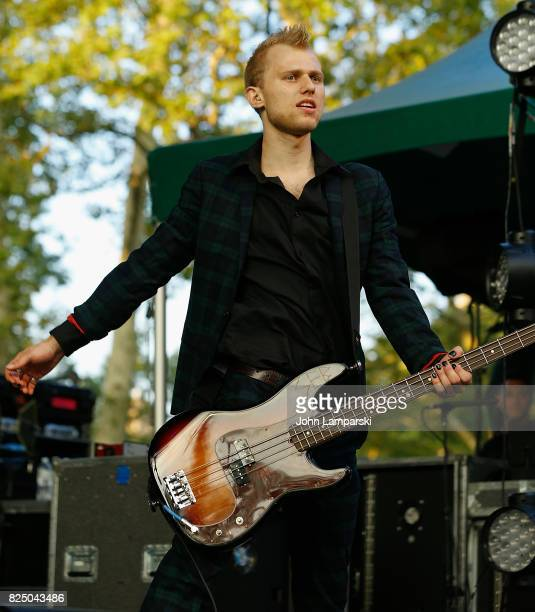 Seb Muellers of the SWMRS performs in concert in New York New York at Central Park SummerStage on July 31 2017 in New York City