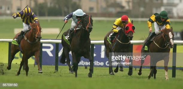 Seb Sanders and Presto Shinko come home to land The totesport Ayr Gold Cup Race run at Ayr Racecourse on September 16 2005 in Ayr Scotland