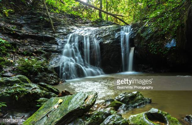 sebaning waterfall, kapit, sarawak - sarawak state stock pictures, royalty-free photos & images