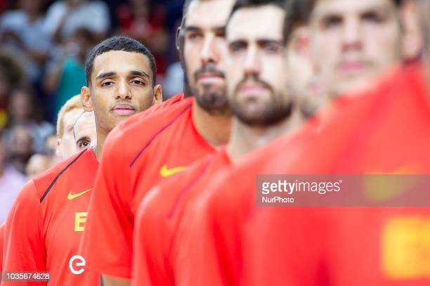 Sebas Saiz of Spain during the FIBA Basketball World Cup Qualifier match Spain against Latvia at Wizink Center in Madrid Spain September 17 2018