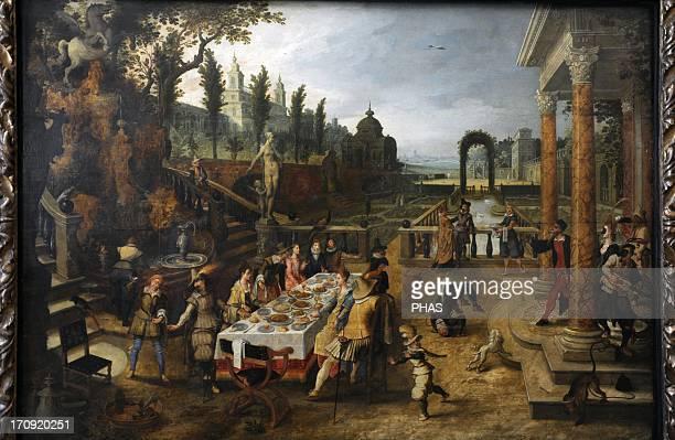 Sebastiaen Vrancx Flemish painter Outdoor banquet Museum of Fine Arts Budapest Hungary