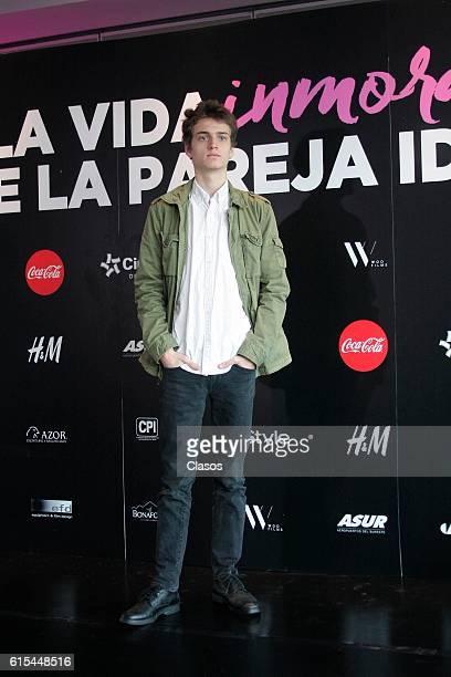 Sebastian Aguirre poses during the presentation of the movie 'La Vida Inmoral de la Pareja Ideal' on October 17 Mexico City Mexico