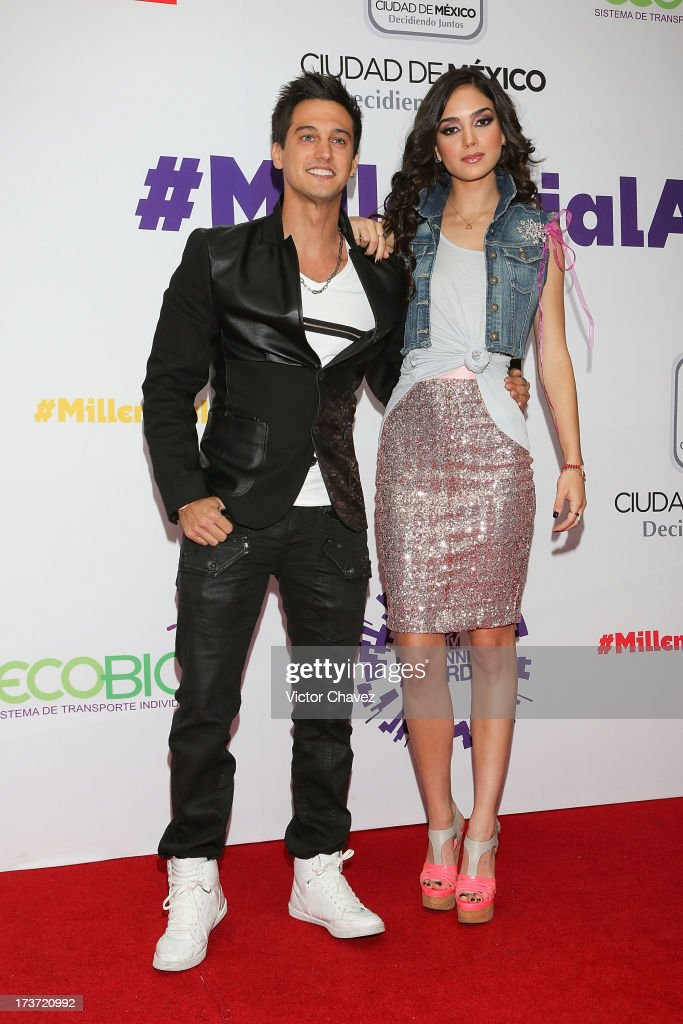 Sebastian and Melissa attend the MTV Millennial Awards 2013 at Foro Corona on July 16, 2013 in Mexico City, Mexico.