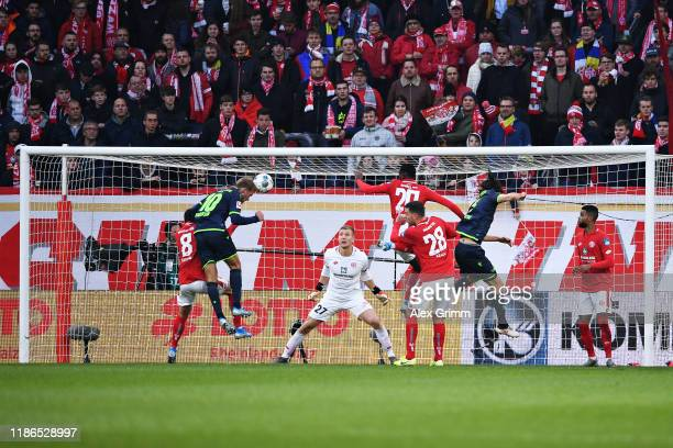 Sebastian Andersson of 1 FC Union Berlin scores his sides second goal during the Bundesliga match between 1 FSV Mainz 05 and 1 FC Union Berlin at...
