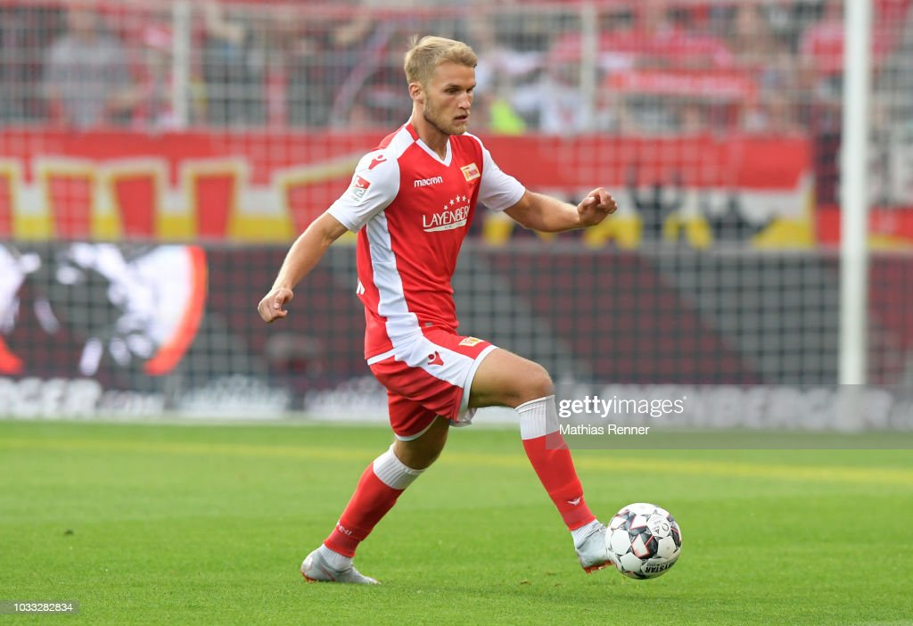 Sebastian Andersson of 1.FC Union Berlin during the game between Union Berlin and the MSV Duisburg at the Stadion an der Alten Foersterei on september 14, 2018 in Berlin, Germany.
