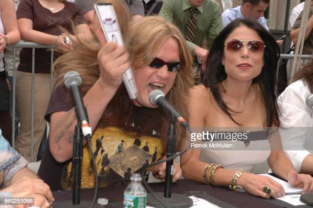 Sebastian Bach and Bethenny Frankel attend IFC CELEBRATES SEASON 2 OF ROCK WITH AMERICA'S HOTTEST ROCKER MOM CONTEST at Madison Square Park on June 3...