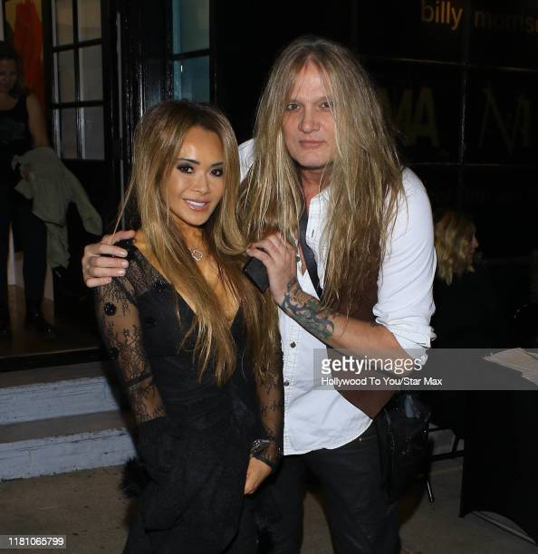 Sebastian Bach and Suzanne Le are seen on November 8 2019 in Los Angeles