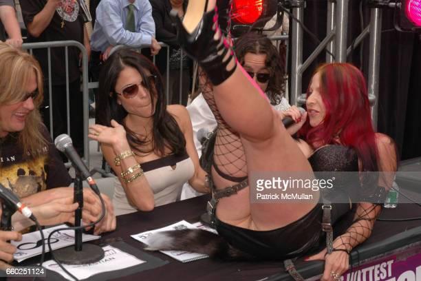 Sebastian Bach Bethenny Frankel and Debra Diamont attend IFC CELEBRATES SEASON 2 OF ROCK WITH AMERICA'S HOTTEST ROCKER MOM CONTEST at Madison Square...