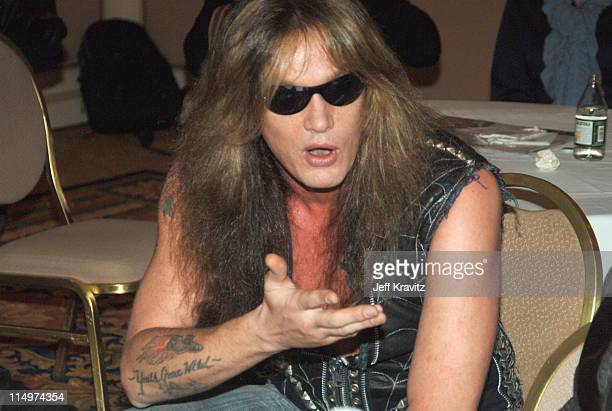 Sebastian Bach during 2006 TCA MTV Networks Green Room at Ritz Carlton Hotel Pavilion Room in Pasadena California United States