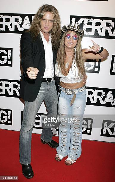 Sebastian Bach of Skid Row and guest attends Kerrang Magazine's 25th Birthday Party at Sin nightclub on June 12, 2006 in London, England.