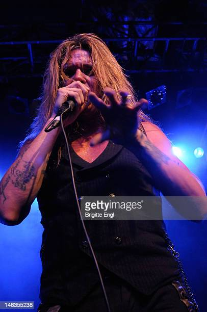 Sebastian Bach performs on stage at O2 Islington Academy on June 14 2012 in London United Kingdom