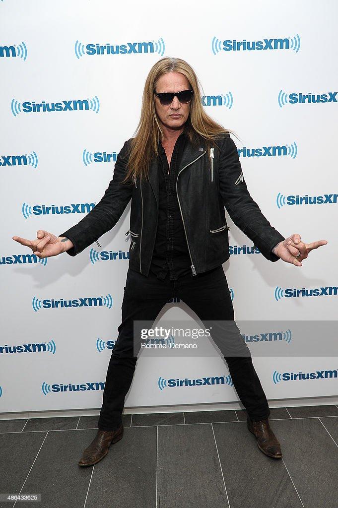 Sebastian Bach visits at SiriusXM Studios on April 24, 2014 in New York City.