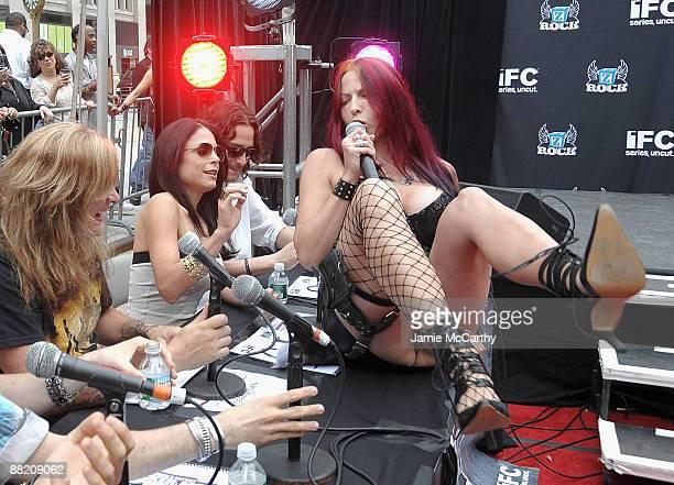 Sebastian BachBethanny Frankel and Constantine Maroulis with Hottest Rocker Mom Winner Debra Diamant attend America's Hottest Rocker Mom Contest at...