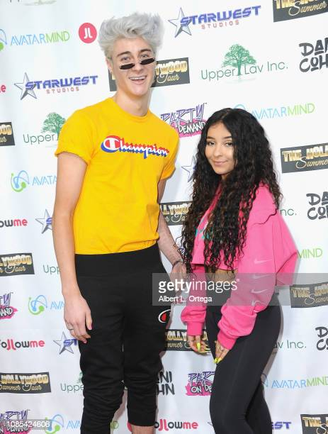Sebastian Bails and Dani Cohn attend Danielle Cohn's Music Video Release Party For Lights Camera Action held at Starwest Studios on January 19 2019...