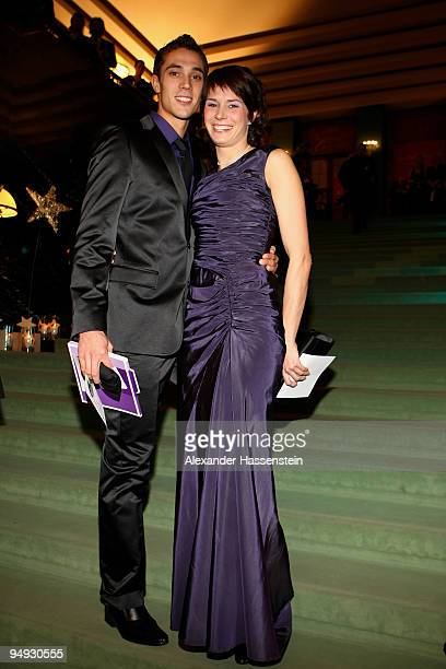 Sebastian Bayer arrives with his girlfriend Carolin Nytra for the 'Athlete of the Year' gala at the Kurhaus BadenBaden on December 20 2009 in Baden...