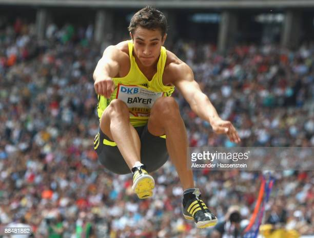 Sebastian Bayer of Germany competes at the men's Long Jump during the IAAF Golden League ISTAF meeting at the Olympic Stadium on June 14 2009 in...