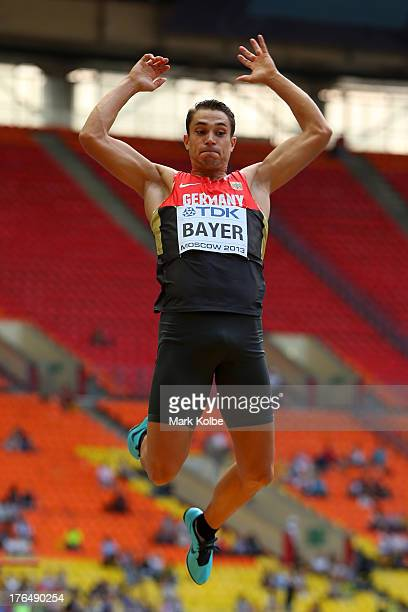 Sebastian Bayer of Germany competes in the Men's Long Jump qualification during Day Five of the 14th IAAF World Athletics Championships Moscow 2013...