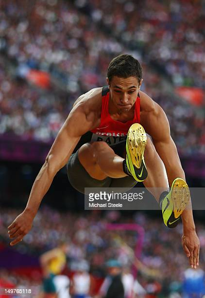 Sebastian Bayer of Germany competes in the Men's Long Jump qualification on Day 7 of the London 2012 Olympic Games at Olympic Stadium on August 3...