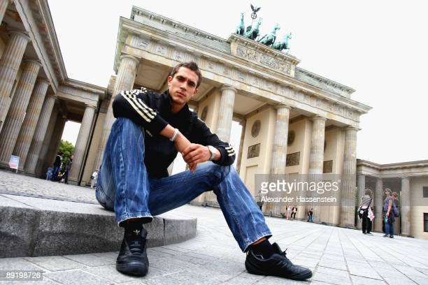 Sebastian Bayer of Germany poses during a portrait session at the Brandenburg Gate on June 15 2009 in Berlin Germany