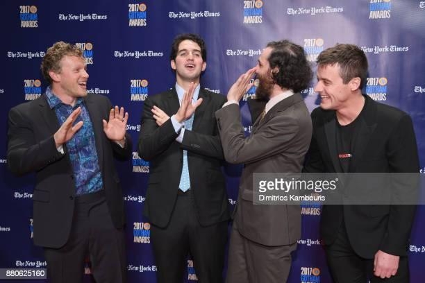 Sebastian BearMcClard Benny Safdie Josh Safdie and Oscar Boyson attend IFP's 27th Annual Gotham Independent Film Awards on November 27 2017 in New...