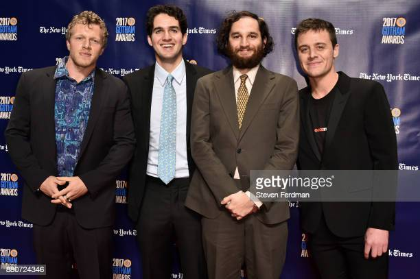 Sebastian BearMcClard Benny Safdie Josh Safdie and Oscar Boyson attend IFP's 27th Annual Gotham Independent Film Awards at Cipriani Wall Street on...