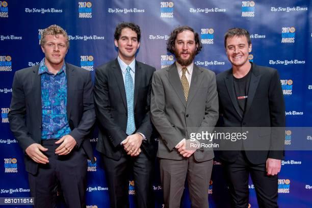 Sebastian BearMcClard Benny Safdie Josh Safdie and Oscar Boyson attend the 2017 IFP Gotham Awards at Cipriani Wall Street on November 27 2017 in New...