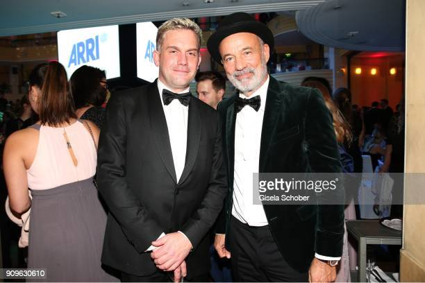 Sebastian Bezzel and Heiner Lauterbach during the German Film Ball 2018 party at Hotel Bayerischer Hof on January 20 2018 in Munich Germany