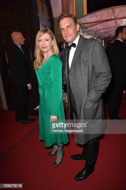 Sebastian Bezzel and his wife Johanna Christine Gehlen attend the Bayerischer Filmpreis 2020 at Prinzregententheater on January 17 2020 in Munich...