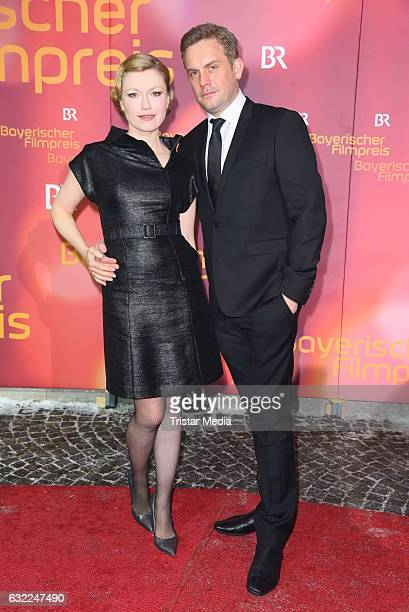 Sebastian Bezzel and his wife Johanna Christine Gehlen attend the Bayerischer Filmpreis 2017 at Prinzregententheater on January 20 2017 in Munich...