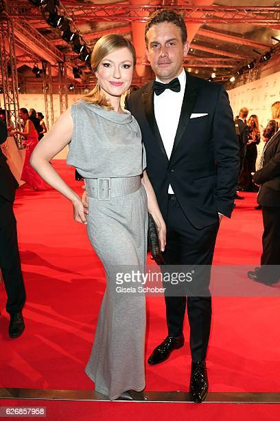 Sebastian Bezzel and his wife Johanna Christine Gehlen during the Bambi Awards 2016 arrivals at Stage Theater on November 17 2016 in Berlin Germany