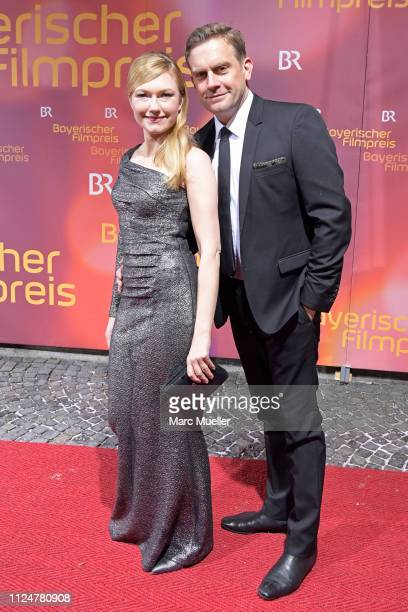 Sebastian Bezzel and Johanna Christine Gehlen attend the Bayerischer Filmpreis 2018 at Prinzregententheater on January 25 2019 in Munich Germany
