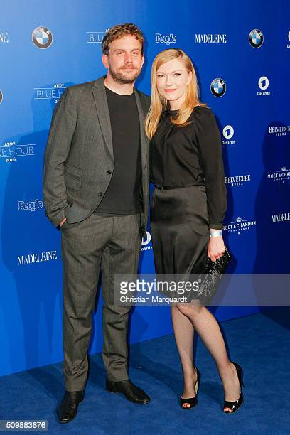 Sebastian Bezzel and Johanna Christine Gehlen attend the Blue Hour Reception hosted by ARD during the 66th Berlinale International Film Festival...