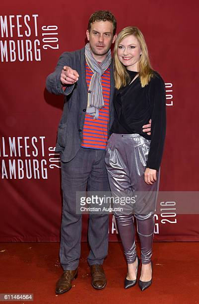 Sebastian Bezzel and JohannaChristine Gehlen attend the premiere of 'Amerikanisches Idyll' during the opening night of Hamburg Film Festival 2016 on...