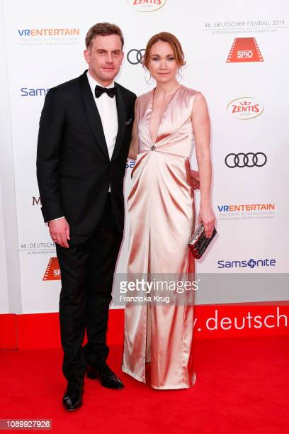 Sebastian Bezzel and Lisa Maria Potthoff during the 46th German Film Ball at Hotel Bayerischer Hof on January 26 2019 in Munich Germany