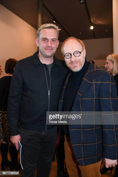 Sebastian Bezzel and Simon Schwarz during the BR Film Brunch at Literaturhaus on January 19 2018 in Munich Germany