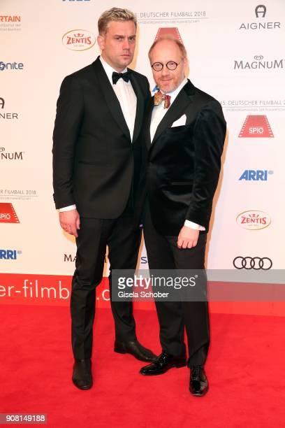 Sebastian Bezzel and Simon Schwarz during the German Film Ball 2018 at Hotel Bayerischer Hof on January 20 2018 in Munich Germany