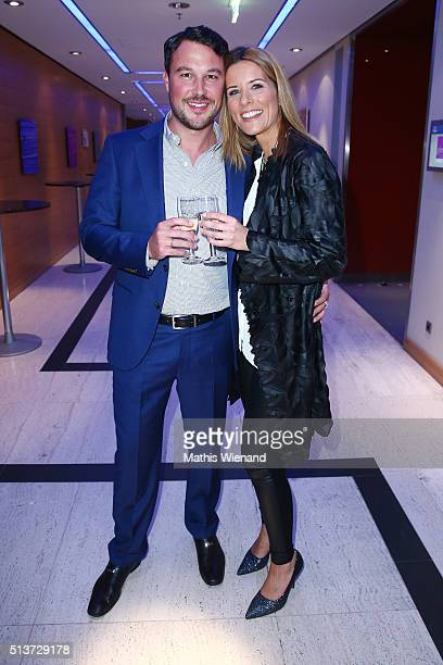 Sebastian Biener and Miriam Lange attend the Gloria Deutscher Kosmetikpreis 2016 at Hilton Hotel on March 4 2016 in Duesseldorf Germany