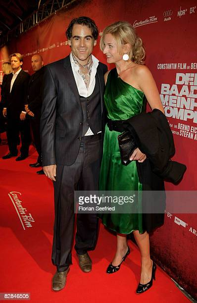 Sebastian Blomberg and Franziska Schlattner attend the 'The Baader Meinhof Complex' German Premiere at Mathaeser Cinema on September 16 2008 in...