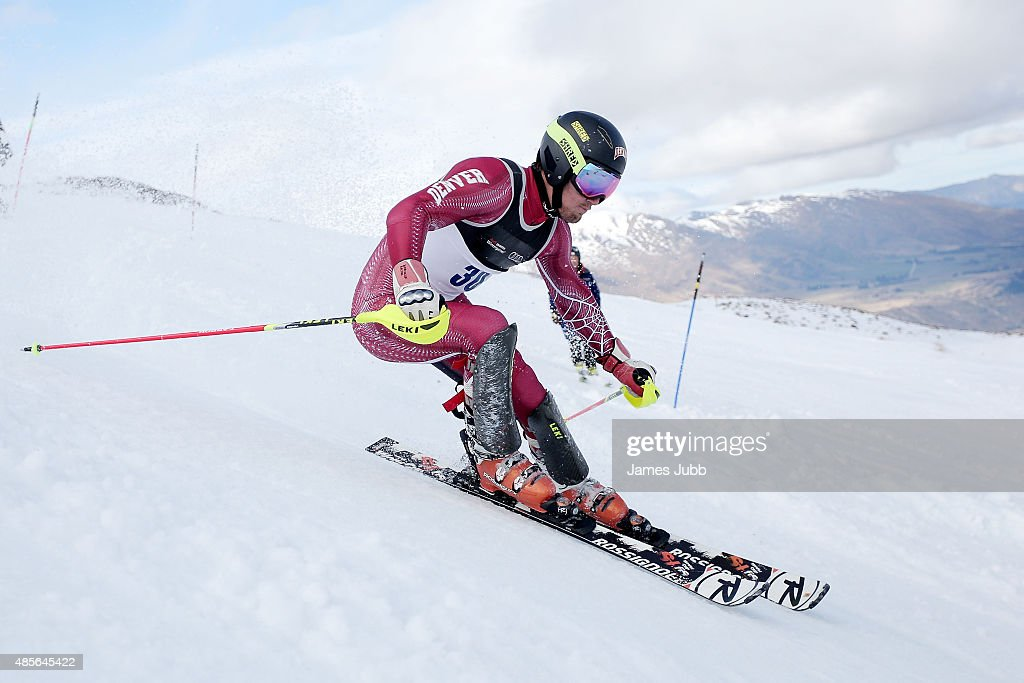 Sebastian Brigovic of Croatia competes in the Alpine Slalom - FIS Australia New Zealand Cup during the Winter Games NZ at Coronet Peak on August 29, 2015 in Queenstown, New Zealand.