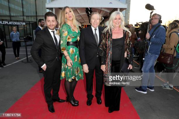 Sebastian Buergin 'Baschi' Alana Netzer Guenter Netzer and his wife Elvira Lang Netzer attend the Hall Of Fame gala at Deutsches Fussballmuseum on...