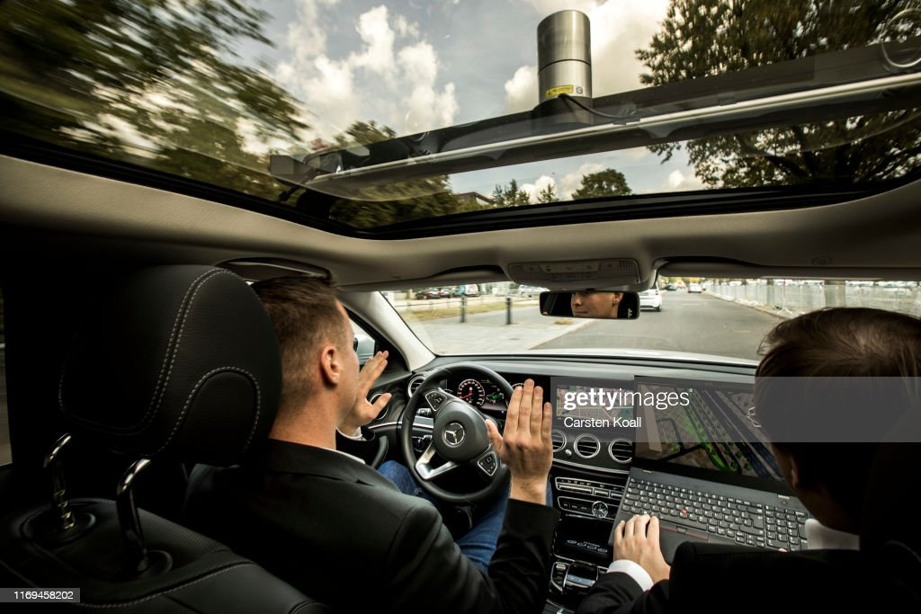 Berlin Launches Autonomous Vehicles Test Route : News Photo
