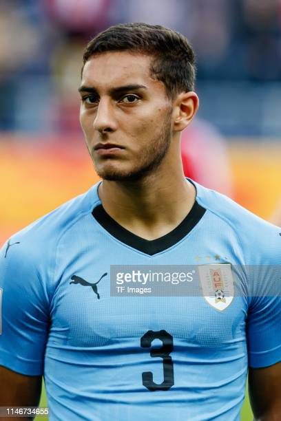 Sebastian Caceres of Uruguay looks on prior to the 2019 FIFA U20 World Cup group C match between Honduras and Uruguay at Arena Lublin on May 27 2019...