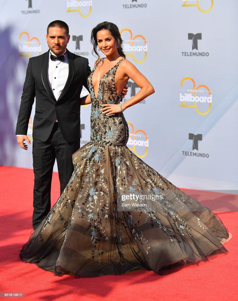 Sebastian Caicedo (L) and Carmen Villalobos attend the 2018 Billboard Latin Music Awards at the Mandalay Bay Events Center on April 26, 2018 in Las Vegas, Nevada.